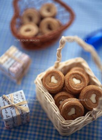 バレンタインデーのハートのクッキーの素材 [FYI00989637]