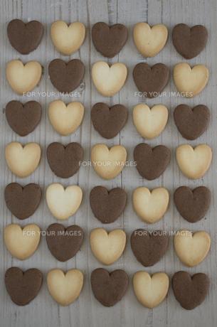 バレンタインのハートクッキーの素材 [FYI00989932]