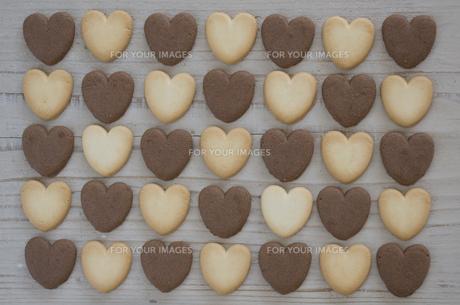 バレンタインのハートクッキーの素材 [FYI00989958]