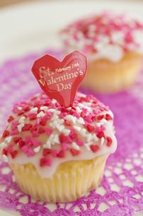 ハートのバレンタインアイシングカップケーキの素材 [FYI00990425]