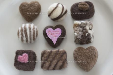 ニードルフェルトのバレンタインチョコレートの素材 [FYI00990499]