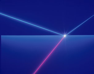 屈折するレーザーイメージの素材 [FYI00991937]