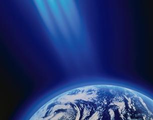 地球と光(青)の素材 [FYI00991945]