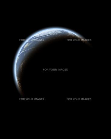 地球のシルエットの素材 [FYI00995940]