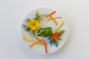花のサラダの素材 [FYI00996081]