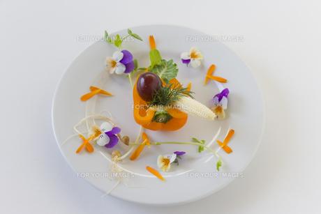 花のサラダの素材 [FYI00996099]