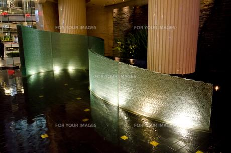 バンコク市街 ホテルのイルミネーションの素材 [FYI00997659]