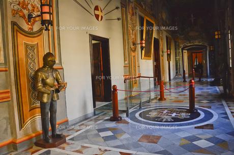 騎士団総長の宮殿 甲冑が並ぶ通廊の素材 [FYI00999885]