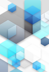 六角形と立方体のアブストラクトの素材 [FYI01017436]
