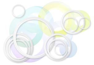 円の波紋イメージの素材 [FYI01017444]
