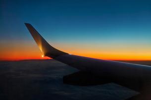 旅客機から見た景色の素材 [FYI01017874]