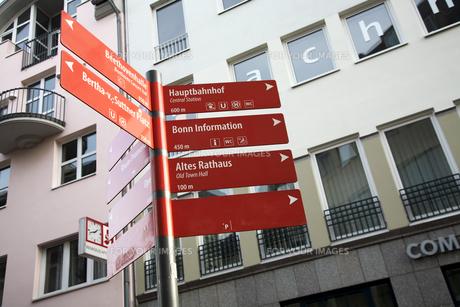 ベートーヴェンハウス近くの道路標識の素材 [FYI01017902]