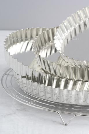 シルバーのタルト型の素材 [FYI01019760]