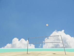 ビーチバレーのネットとボールの素材 [FYI01020949]