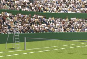 テニスコートと観客の素材 [FYI01021052]
