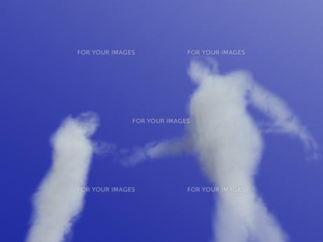 握手する雲のビジネスマンの素材 [FYI01021079]