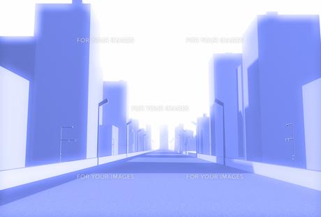青いハイウェイとビルの素材 [FYI01021098]