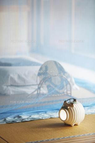 和室に蚊帳の素材 [FYI01025748]