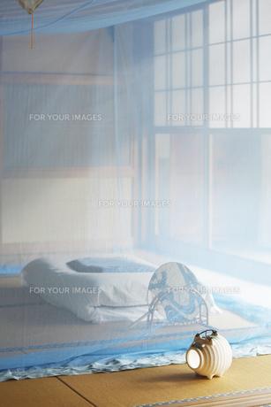 和室に蚊帳の素材 [FYI01025855]