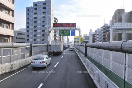 首都高速道路渋谷線上り池尻出口の素材 [FYI01026882]