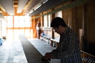 作業する中年男性の素材 [FYI01030516]