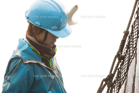 作業する漁師の素材 [FYI01030578]