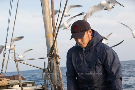 定置網漁の男性の素材 [FYI01030678]