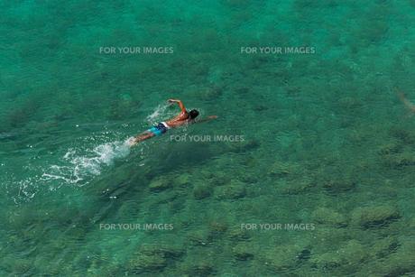 海を泳ぐ男の素材 [FYI01030716]