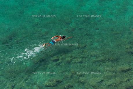 海を泳ぐ男の素材 [FYI01030767]