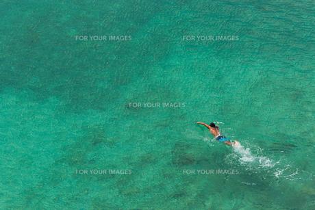 海を泳ぐ男の素材 [FYI01030847]