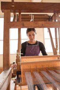 大島紬を織る女性の素材 [FYI01030865]
