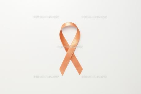 オレンジリボンの素材 [FYI01031969]
