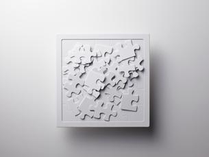 白いジグソーパズルの素材 [FYI01032001]