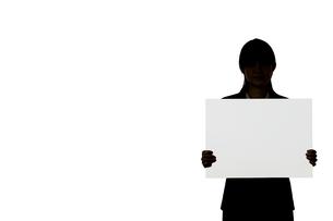 ボードを持つビジネスウーマンの素材 [FYI01032264]