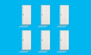 6つのドアの素材 [FYI01032381]
