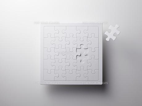 白いジグソーパズルの素材 [FYI01032415]