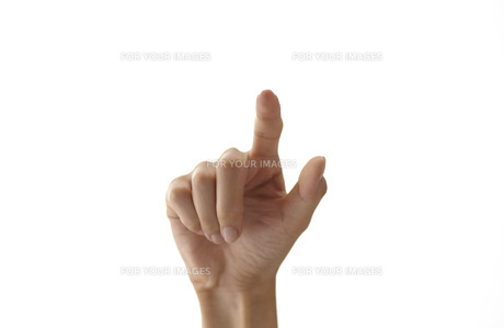 スイッチを押す女性の手の素材 [FYI01033132]