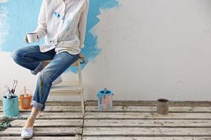 DIYをする女性の素材 [FYI01033191]
