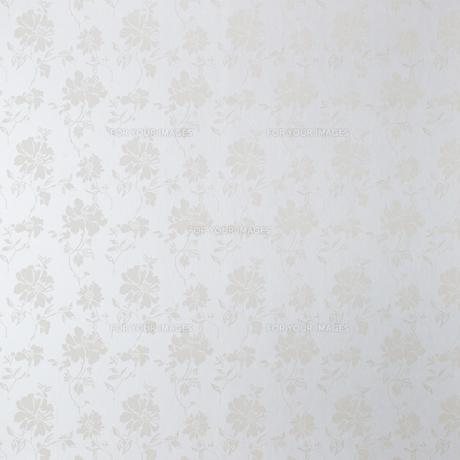 花柄ホワイト壁の素材 [FYI01033533]