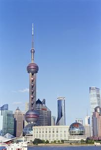 上海東方明珠電視塔がある都市の素材 [FYI01033553]