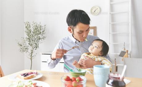 親子で朝食の素材 [FYI01033623]