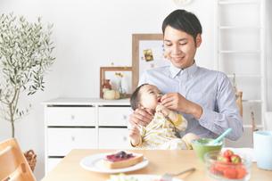 親子で朝食の素材 [FYI01033673]