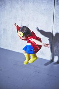 空飛ぶちびっこスーパーマンの素材 [FYI01033746]