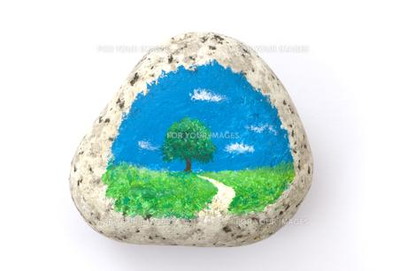 石に描いた絵の素材 [FYI01038593]