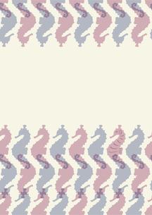 タツノオトシゴのパターンの素材 [FYI01040584]