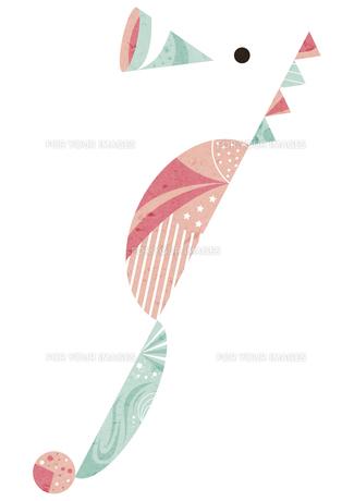 水色とピンクのタツノオトシゴの素材 [FYI01040655]