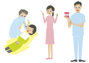 歯の治療、歯科医の素材 [FYI01040822]