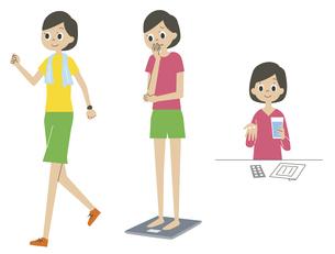 健康に気を遣う女性の素材 [FYI01040899]