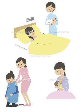妊婦、出産後の女性の素材 [FYI01040951]