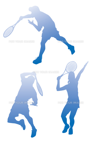 テニスシルエットの素材 [FYI01041213]